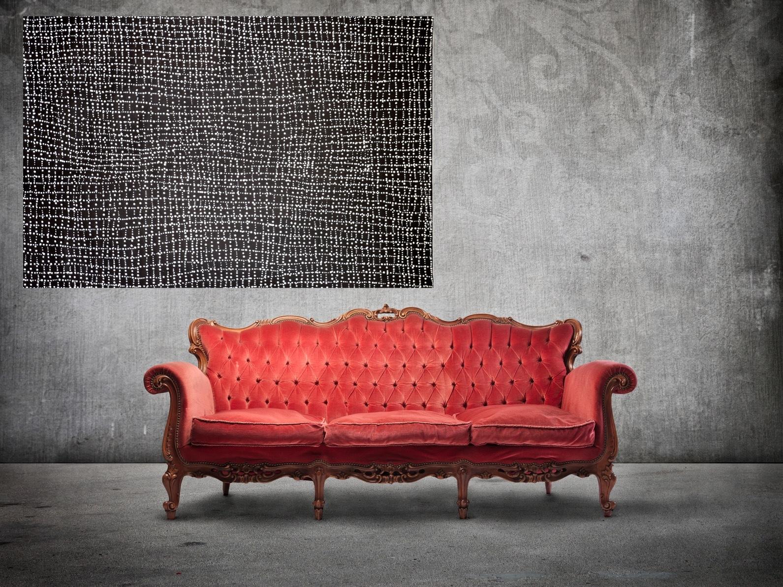 Intérieur avec une toile de Dorothy Napangardi