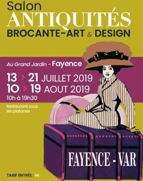 SALONS DE FAYENCE, du 13 au 21 juillet et du 10 au 19 août 2019 – FAYENCE