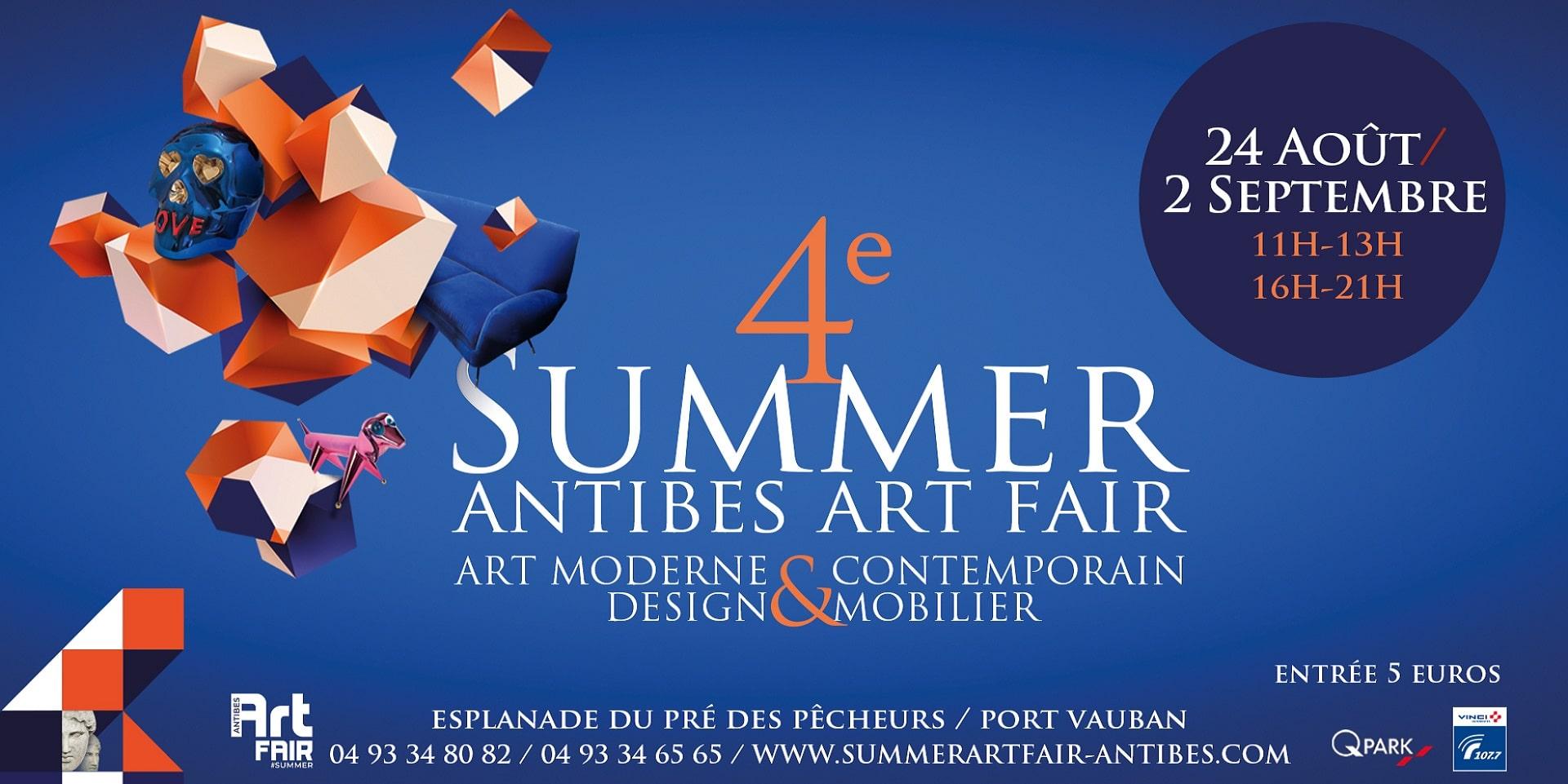 SUMMER ART FAIR, du 24 août au 2 septembre 2019 – ANTIBES