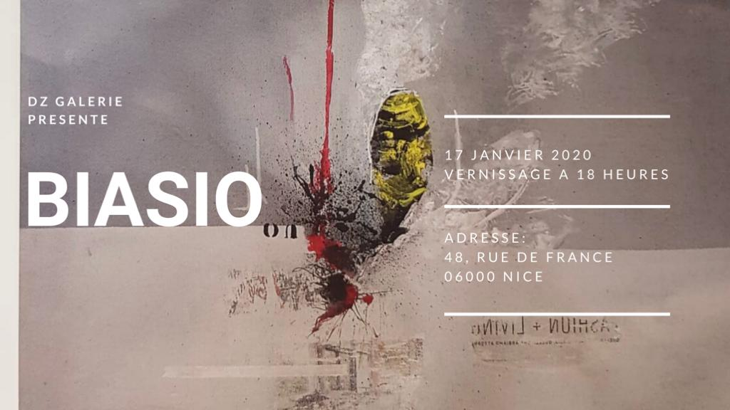 GIUSEPPE BIASIO, à partir du 17 Janvier 2020 – Nice