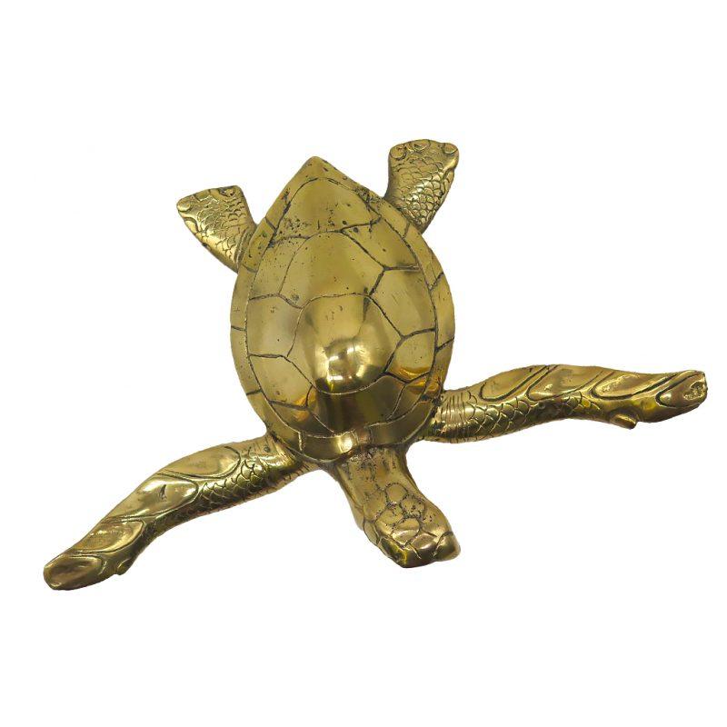dz galerie art nice grande tortue bronze dore