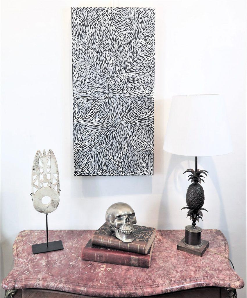 Jeannie Pitjara peinture aborigène décoration DZ Galerie art Nice