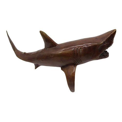 Requin en bronze sombre DZ Galerie d'art Nice droit