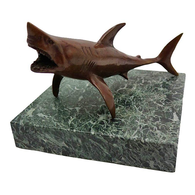 Requin en bronze sombre DZ Galerie d'art Nice
