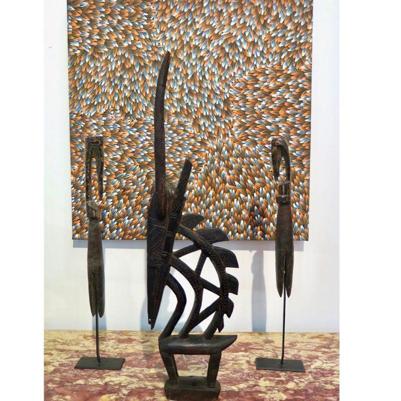 Coiffe Tiwara objets de collection africain DZ Galerie d'art à Nice décoration
