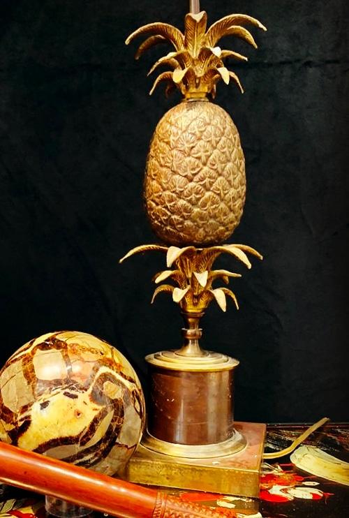 lampe ananas bronze et laiton DZ Galerie art Nice