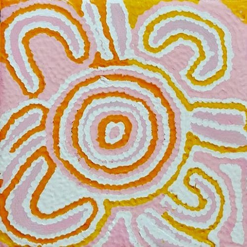 Mina Mina Dreaming rosé de Nancy Napangangka Gibson DZ Galerie