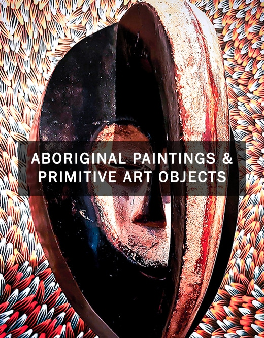 Aboriginal paintings and primitive art objects gallery in Nice