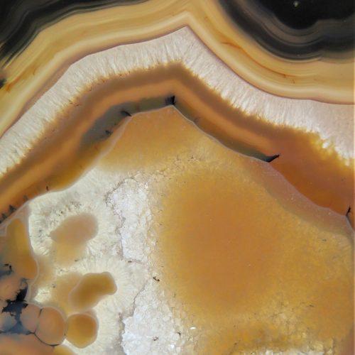 Agate du Brésil marron focus DZ galerie art Nice