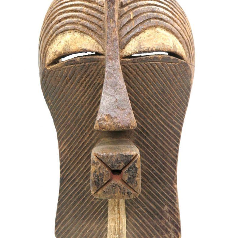 Masque Kifwebe Songye DZ galerie d'art à Nice focus