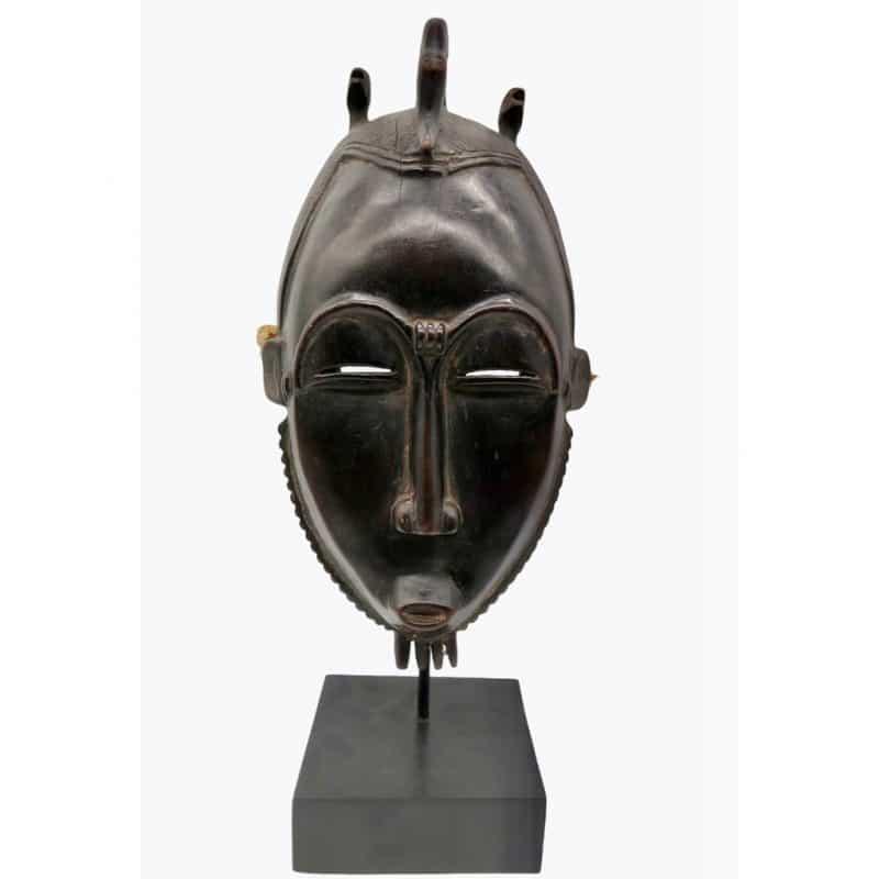 Masque Baoulé brun rouge DZ Galerie d'art à Nice