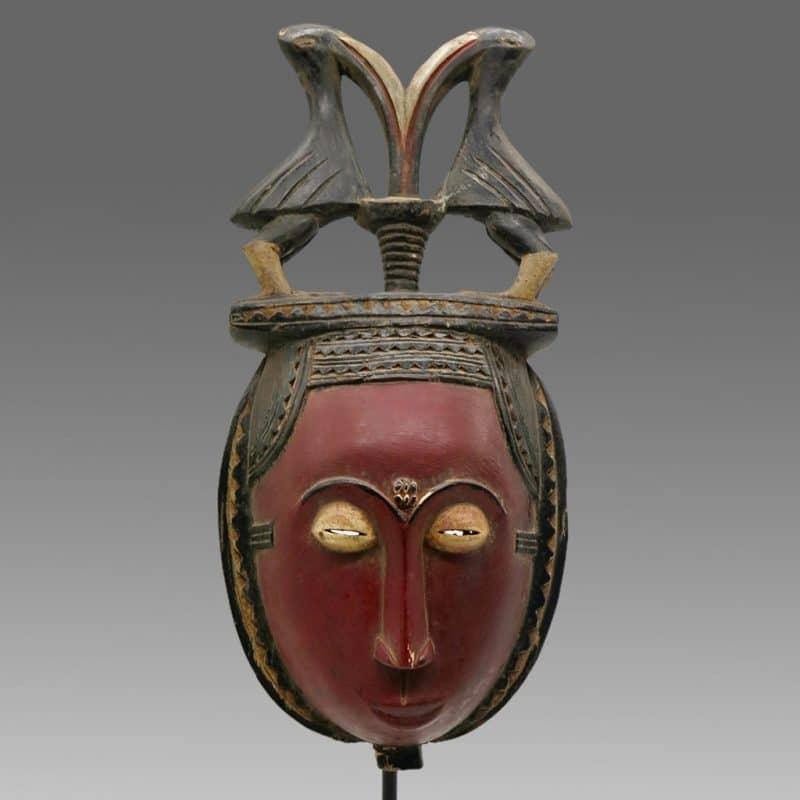 Masque Baoulé objet de collection africain DZ Galerie d'art à Nice