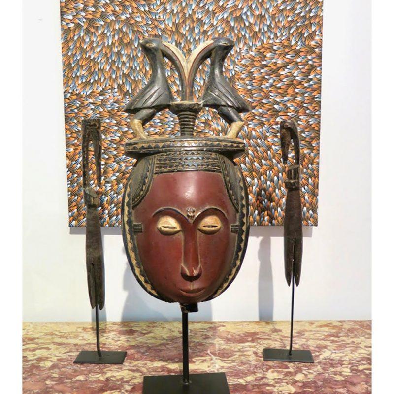 Masque Baoulé objet de collection africain DZ Galerie d'art à Nice décoration