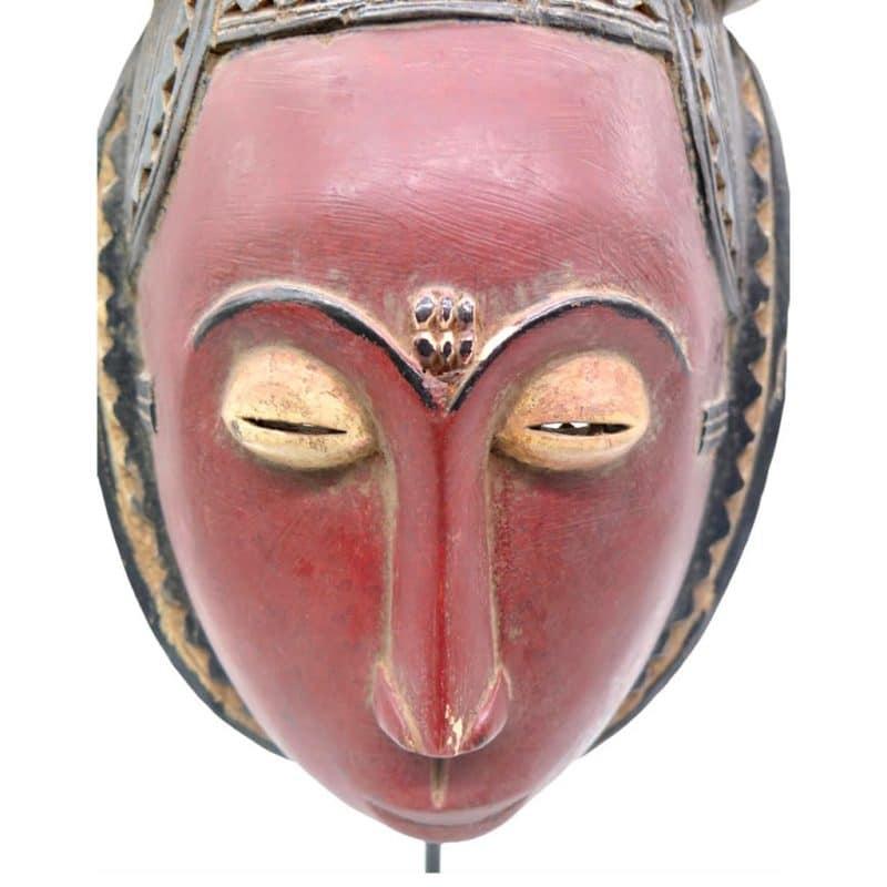 Masque Baoulé objet de collection africain DZ Galerie d'art à Nice focus