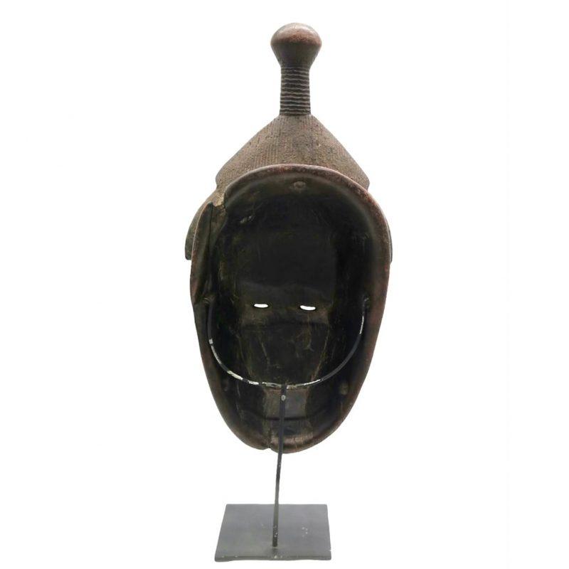 Masque Baoulé patine noire DZ Galerie Nice dos