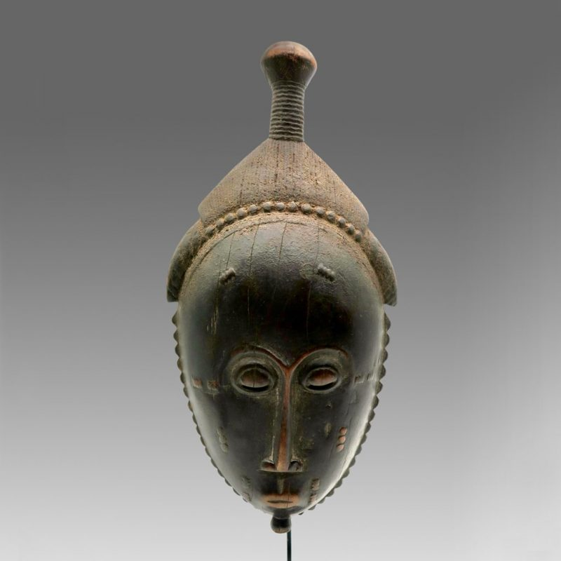 Masque Baoulé patine noire DZ Galerie Nice