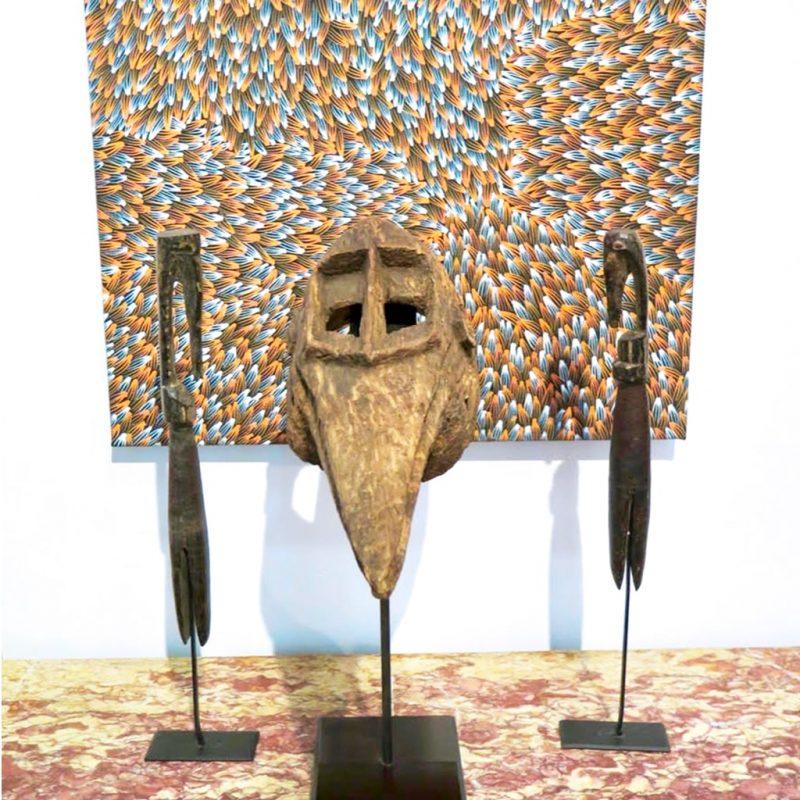 Masque Dogon objet de collection africain DZ galerie d'art à Nice décoration