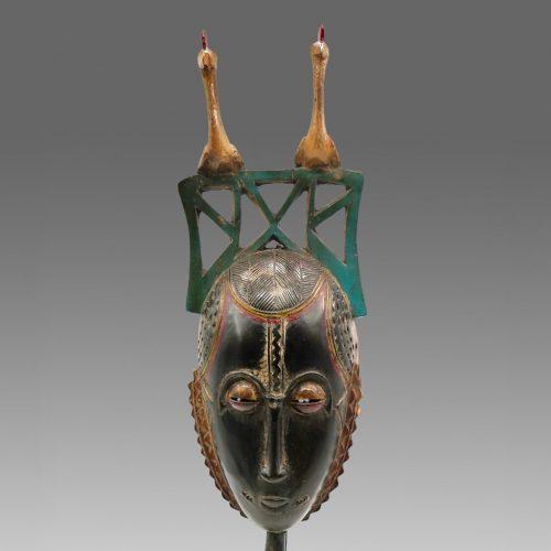 Masque de réjouissance Baoulé noir DZ Galerie Nice