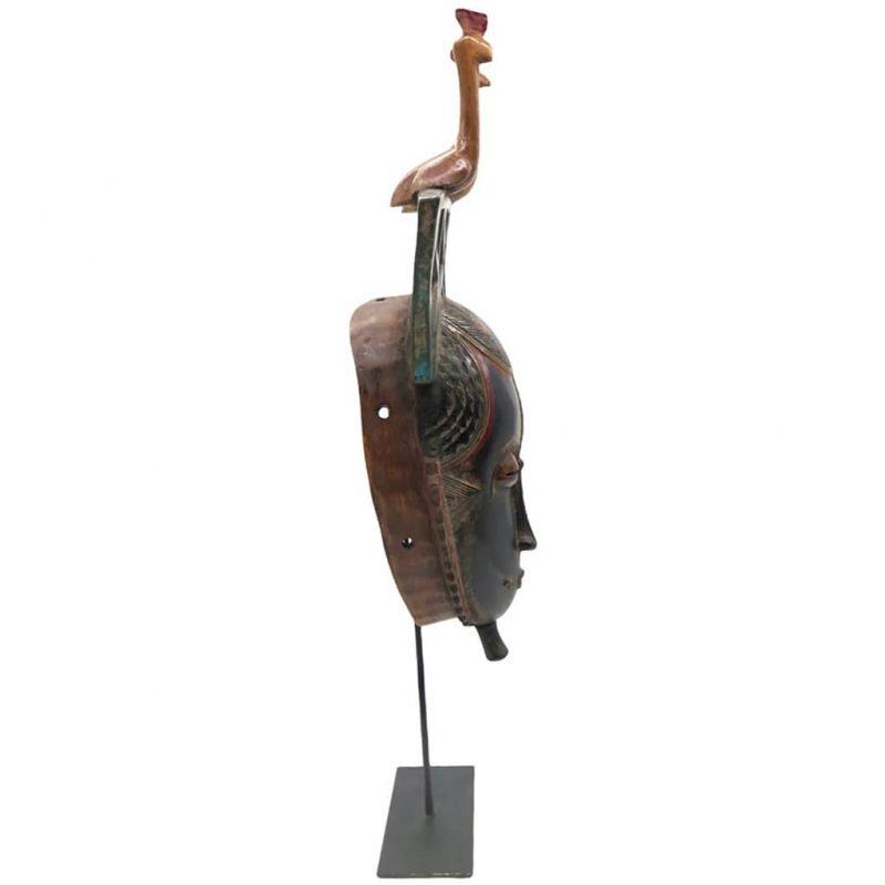 Masque de réjouissance Baoulé noir DZ Galerie Nice droit