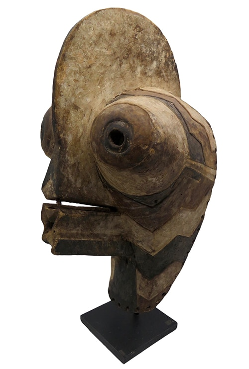 Masque africain Kifwebe Songye DZ Galerie art Nice trois quarts