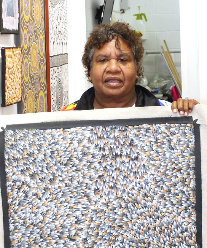 Portrait Abie Loy Kemarre DZ galerie art Nice