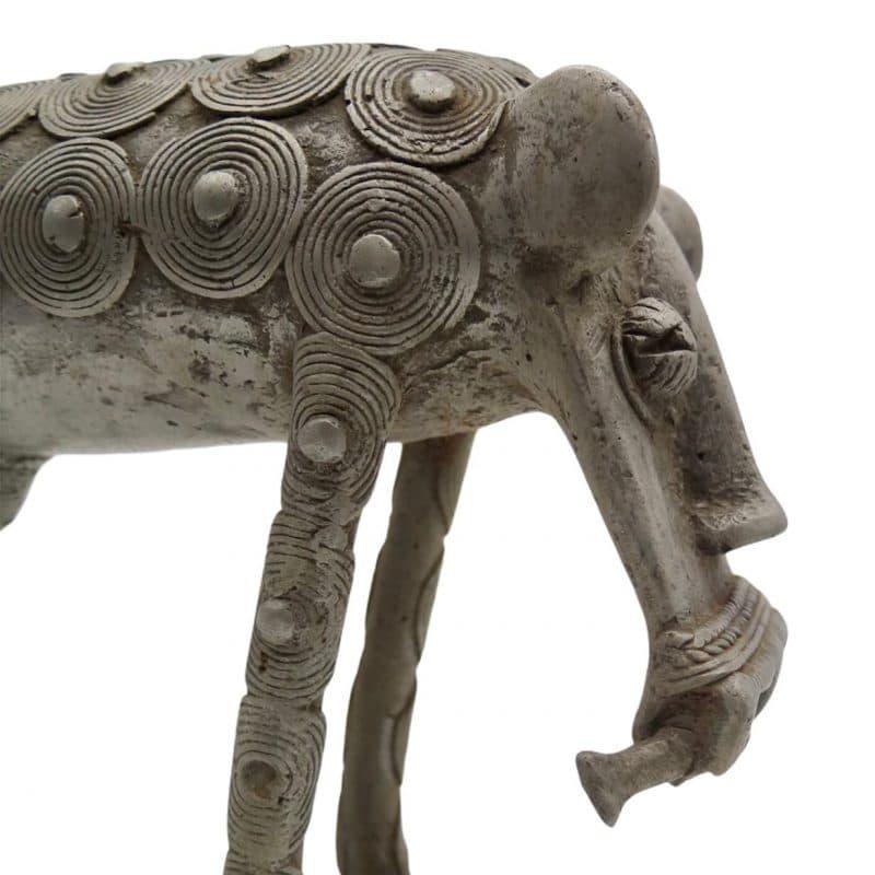 Statue léopard Koulango DZ Galerie d'art à Nice focus
