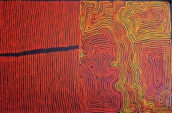 Ronnie Tjampitjinpa, Tingari Dreaming, 2014, 120 x 186 cm